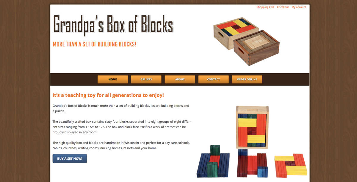 Grandpa's Box of Blocks